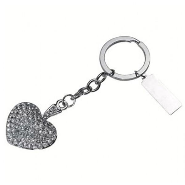 Ключодържател сърце с камъни